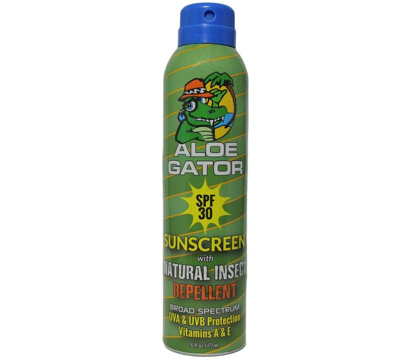 Aloe Gator SPF 30 with Natural Insect Repellent Continuous Spray