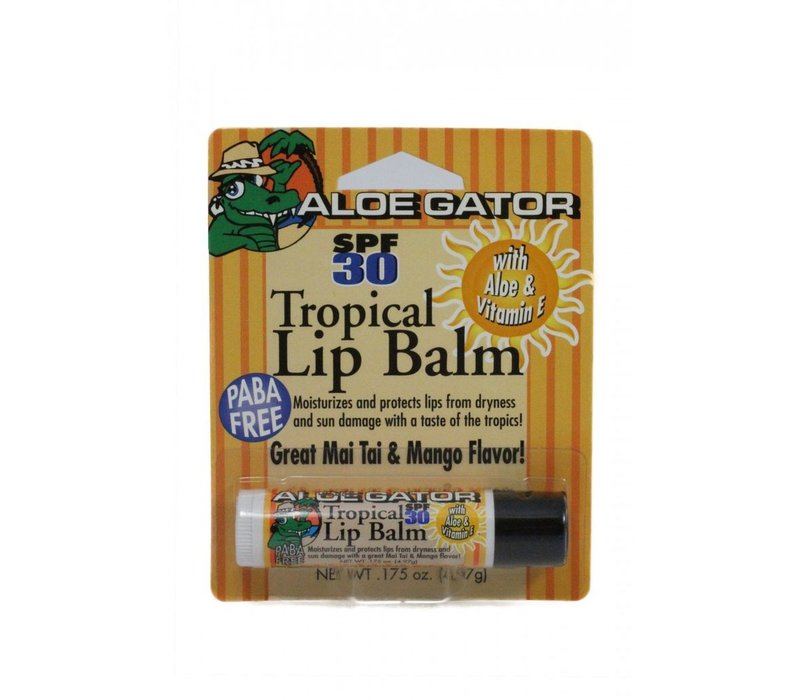 Aloe Gator Moisturizing Lip Balm SPF 30 Carded