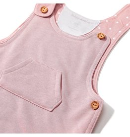 Dotty Dungarees Pink Diddy Dungarees