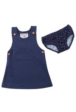 Dotty Dungarees Navy Diddy Dress