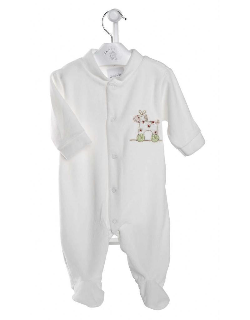 Dandelion Rocking Horse Velour Sleepsuit