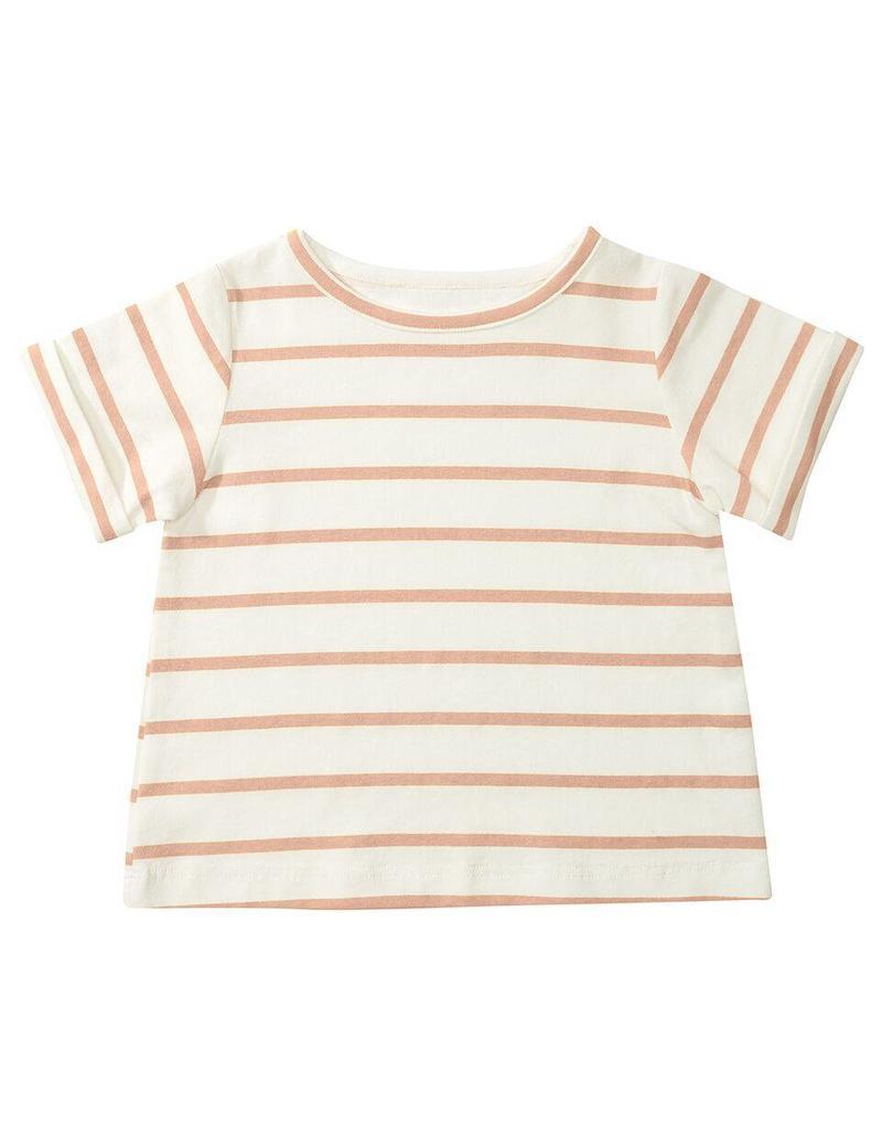 Dotty Dungarees Pink  Stripe Summer T-Shirt