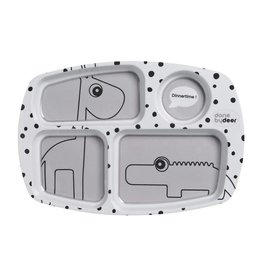 Done by Deer Dots Compartment plate