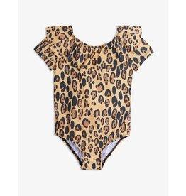 MINI RODINI Leopard ss swimsuit