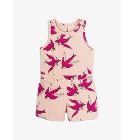 MINI RODINI Mini Rodini Jumpsuit pink swallows