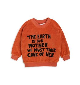 MINI RODINI Mother earth terry sweatshirt