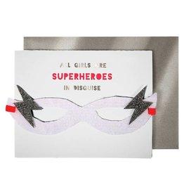 Meri Meri GIRL SUPERHERO GREETING CARD