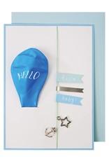 Meri Meri BLUE HELLO BABY BALLOON CARD
