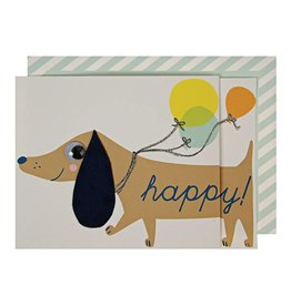 Meri Meri SAUSAGE DOG GREETING CARD