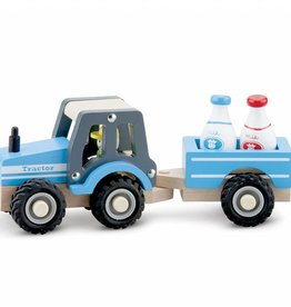 New Classic Toys Tractor with Trailer - Milk Bottles