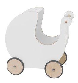 Sebra Puppenkinderwagen aus Holz, weiss