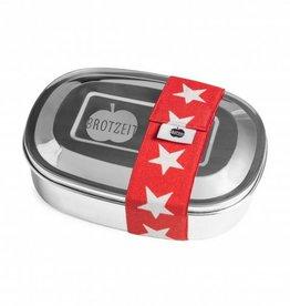 Brotzeit Lunchbox uno aus Edelstahl 100% BPA frei, Sterne rot