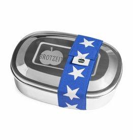 Brotzeit Lunchbox uno aus Edelstahl 100% BPA frei, Sterne blau