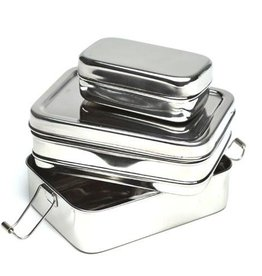 Brotzeit Lunchbox 3 in 1 Jausenbox aus Edelstahl