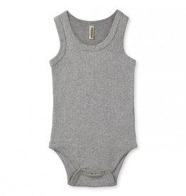 Popupshop Baby Rib Body Tank Grey Melange