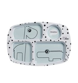 Done by Deer Happy Dots Compartment plate