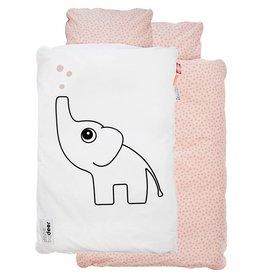Done by Deer Kinderbett-Bettwäsche  von Donebydeer rosa/weiß