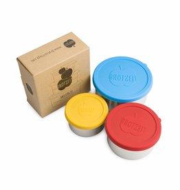 Brotzeit Brotzeit Dreierlei Edelstahl-Lunchbox