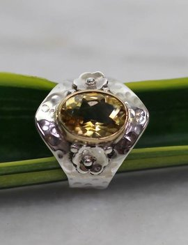 Josephina Citrine Flower Cut