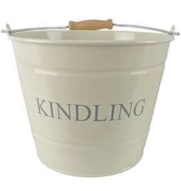 MANOR SMALL KINDLING BUCKET - CREAM - 23