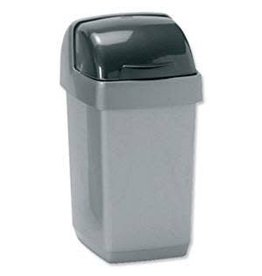 Addis ADDIS 10L ROLL TOP BIN METALLIC