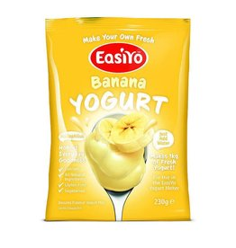 EasiYo EASIYO BANANA YOGURT 230G MAKES 1KG