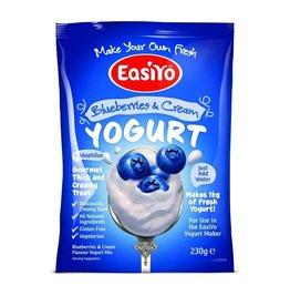 EasiYo EASIYO BLUEBERRIES & CREAM YOGURT 240G MAKES 1KG
