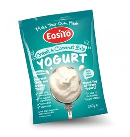 EasiYo EASIYO GREEK STYLE WITH COCONUT BITS YOGURT 240G MAKES 1KG