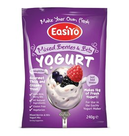 EasiYo EASIYO MIXED BERRIES WITH BERRY BITS YOGURT 240G MAKES 1KG (DISC)