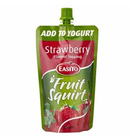 EasiYo EASIYO STRAWBERRY FLAVOUR TOPPING FRUIT SQUIRT ADD TO YOGHURT 250G