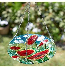 Smart Garden SMART GARDEN HANGING GLASS BIRDBATH - POPPY