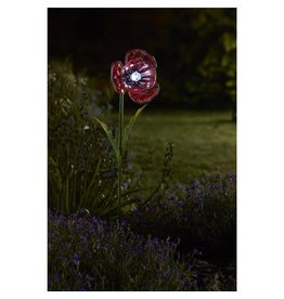 Smart Garden SMART GARDEN SOLAR POWERED LIGHT UP POPPY FLOWER STAKE LIGHT