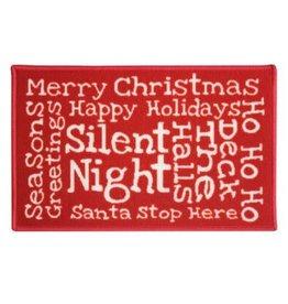 JVL SILENT NIGHT - JVL CHRISTMAS XMAS MAT 40 X 60CM
