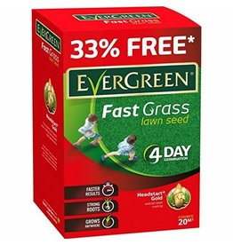 EVERGREEN FAST GRASS LAWN SEED 15M2+33% FREE