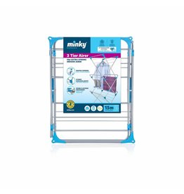 Minky MINKY CONCERTINA 3 TIER AIRER INDOOR 15M - SILVER