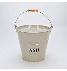 INGLENOOK ASH BUCKET WITH LID - CREAM ING014