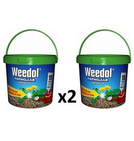 2 x Scotts Weedol Pathclear 18 Tube Tub Weed Killer - 36 Tubes Twin Pack