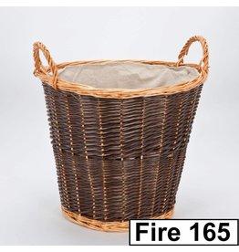 INGLENOOK TWO-TONE LOG BASKET FIRE165