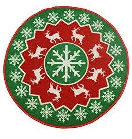 JVL SNOWFLAKE - JVL CHRISTMAS XMAS MAT 80CM DIAMETER