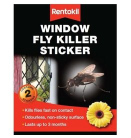 Rentokil RENTOKIL WINDOW FLY KILLER STICKER TWIN PK