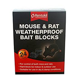 Rentokil RENTOKIL MOUSE & RAT W/PROOF BAIT BLOCKS 24'S