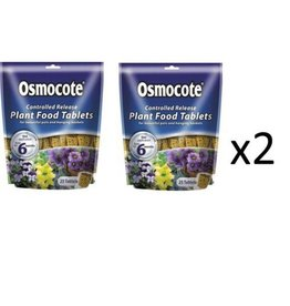 2 x Scotts Osmocote Controlled Release Plant Food Tablets (50)