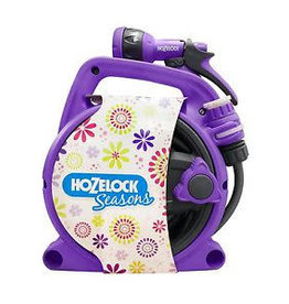 Hozelock 2425 HOZELOCK 10M PICO REEL PURPLE WITH MULTI SPRAY GUN TAP CONNECTOR AND HOSE CONNECTOR