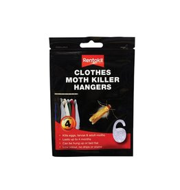 Rentokil CLOTHES MOTH KILLER HANGERS 4PACK