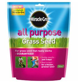 Miracle-Gro SCOTTS MIRACLE-GRO ALL PURPOSE GARDEN LAWN GRASS SEED FOOD FEED 900g