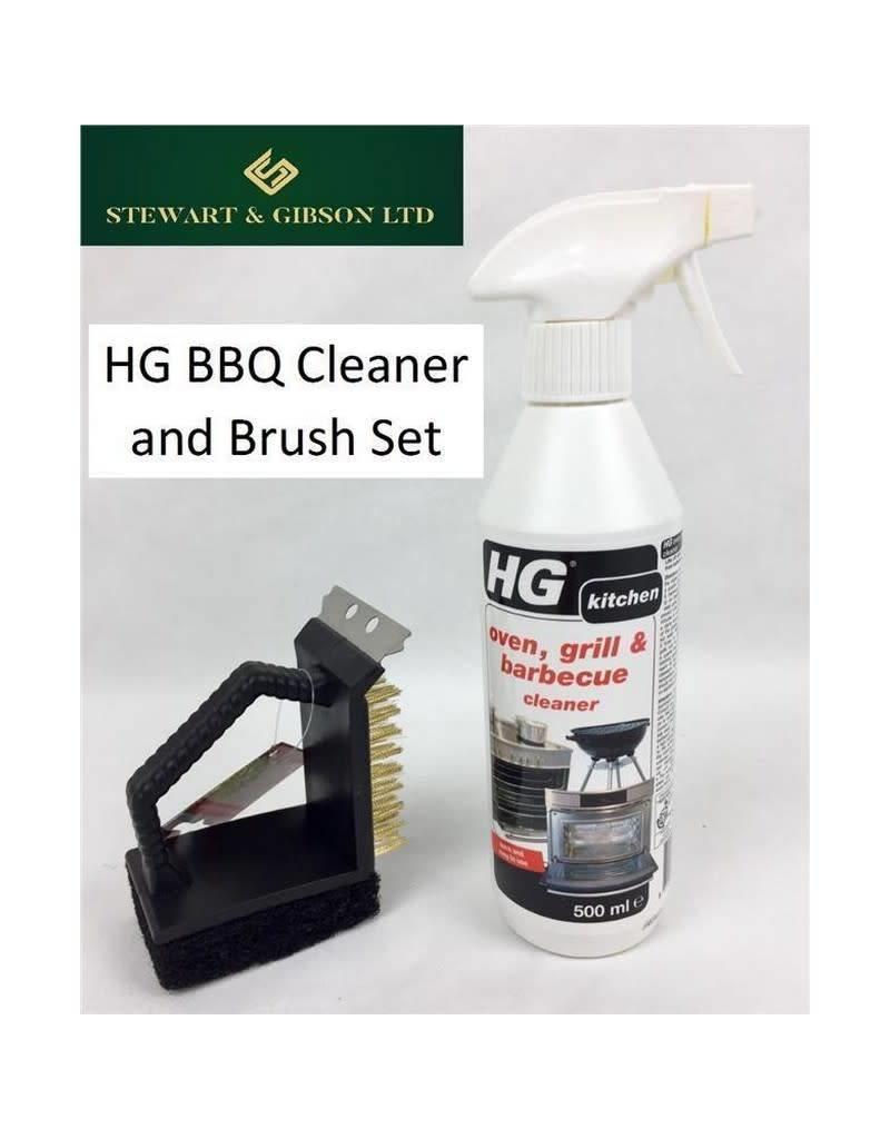 HG HG Hagesan Oven, Grill and Barbecue BBQ Cleaner - 500ml with 3 Way BBQ Brush