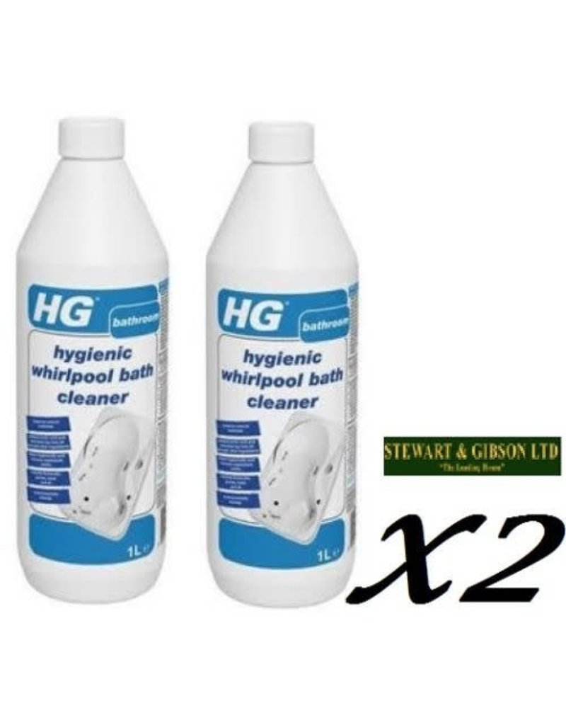 HG 2 x HG Hygienic Whirlpool Cleaner 1L - 24+ weeks supply