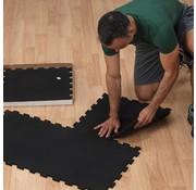 Body-Solid Body-Solid Rubberen Puzzelmatten Zwart (4 PACK 50X50CM)