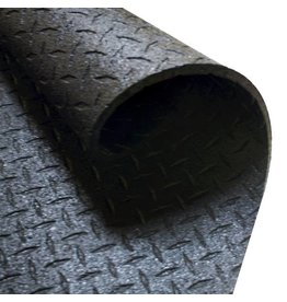Body-Solid Body-Solid - Beschermmat/Vloermat - 183 cm x 122 cm x 1,27 cm  - Zwart - Rubber