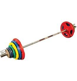 Body-Solid Body-Solid Olympische Halterset - Gekleurd Rubber - 140 kg